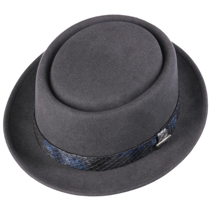 Laurentis Pork Pie VitaFelt Hat grey