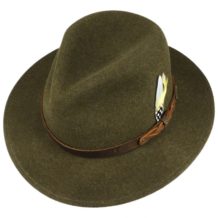 Tambston VitaFelt Wool Hat darkolive