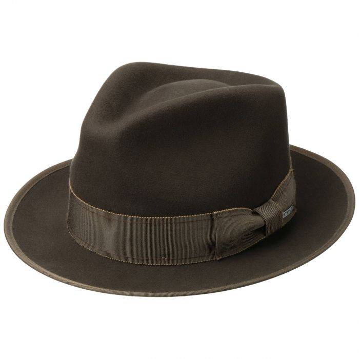 Takota Fedora Wool Hat With Cashmere brown