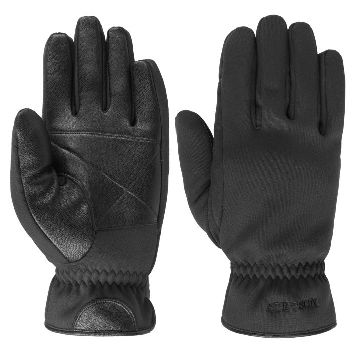 Conductive Goat Nappa Leather Gloves black
