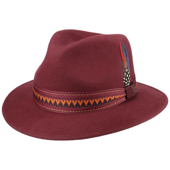 Elana Traveller Wool Hat bordeaux