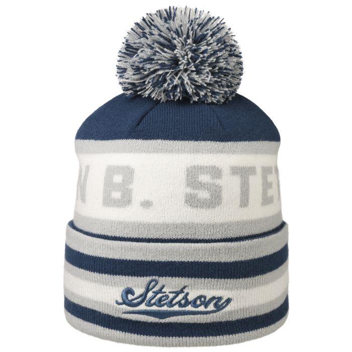 John B. Stetson Pompom Hat blue