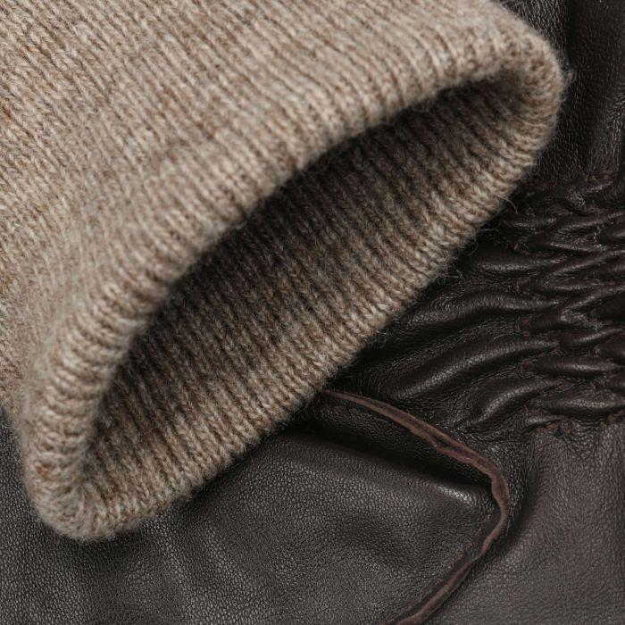 Sheepskin Leather Gloves brown