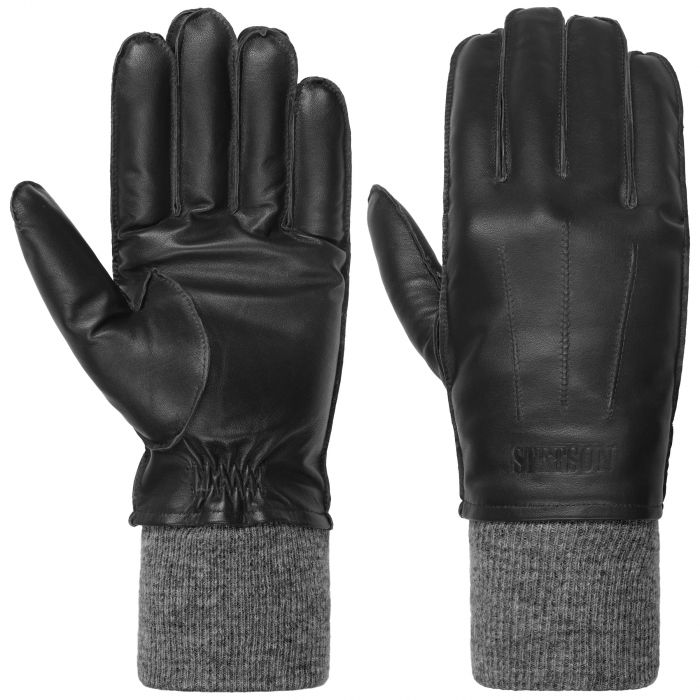 Sheepskin Leather Gloves black