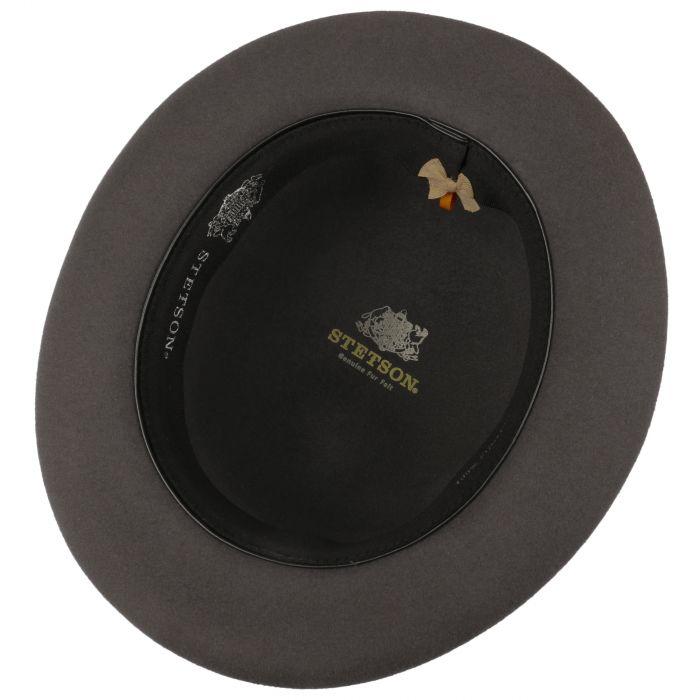 Bowler Fur Felt Hat dark grey