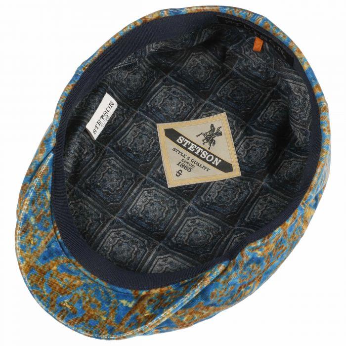 Baroque Velvet Flat Cap turquoise