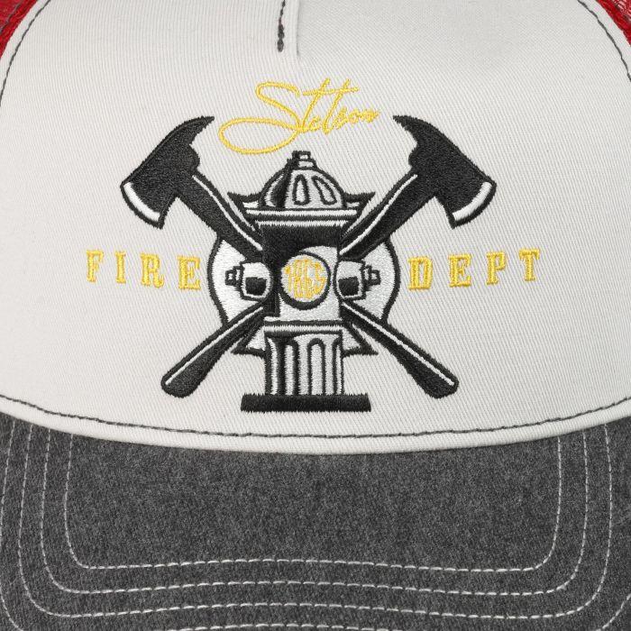 Fire Dept. Trucker Cap grey-red