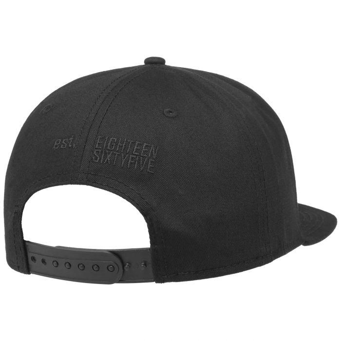 Black Lettering Cotton Cap black