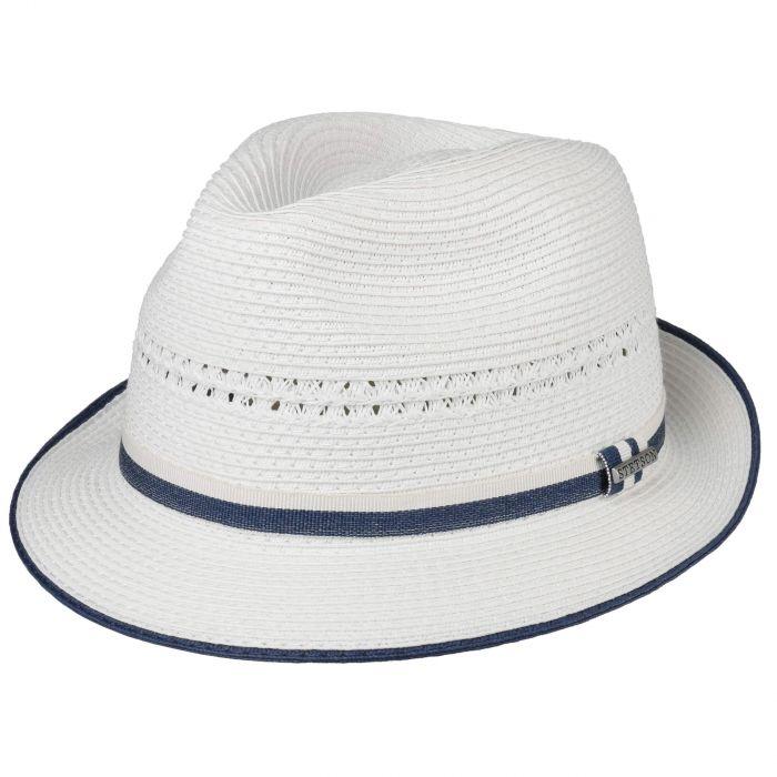 Tavato Toyo Trilby Straw Hat white