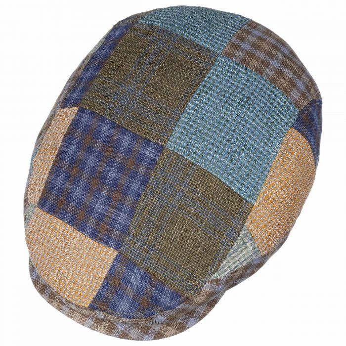 Clanton Patchwork Flatcap bunt