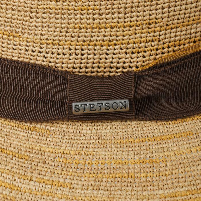 Dan Crochet Traveller Raffia Hat nature-yellow