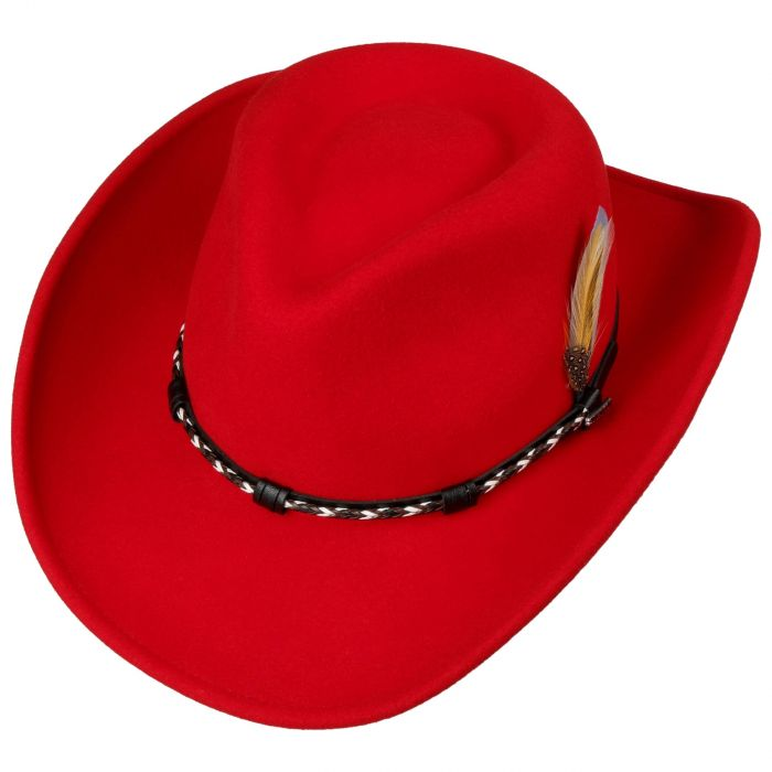 Amasa VitaFelt Western Hat red