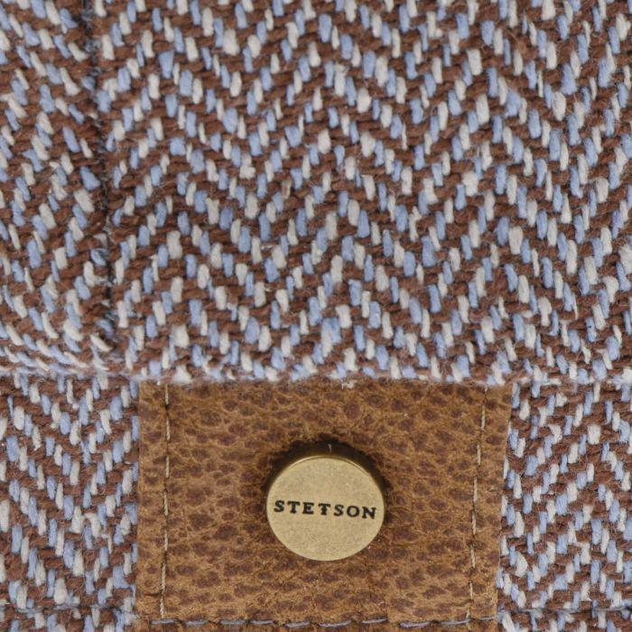 Hatteras Zijde Flat Cap bruin-gemêleerd