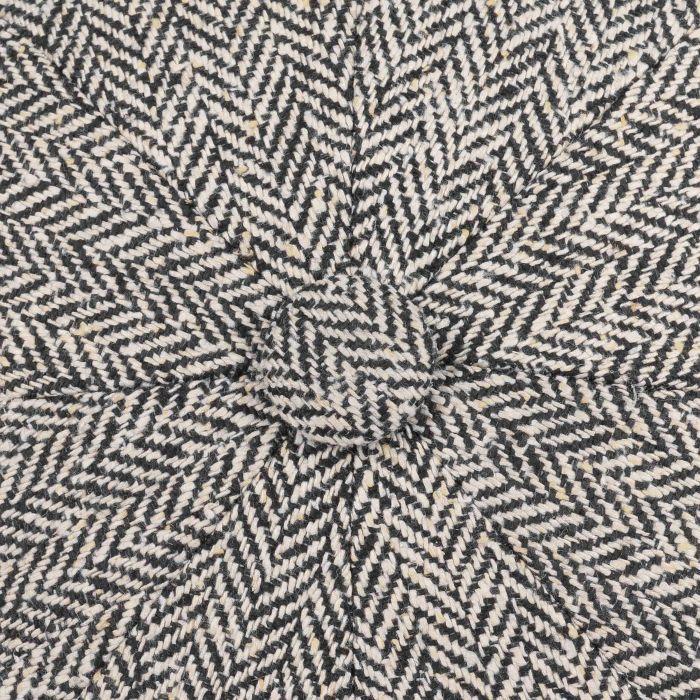 Hatteras Zijde Flat Cap zwart-wit