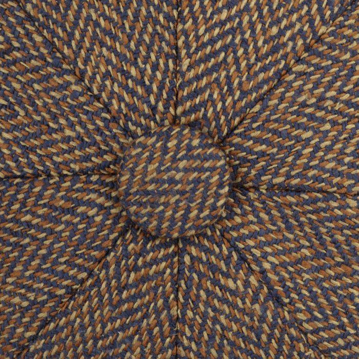 Hatteras Zijde Flat Cap bruin-blauw