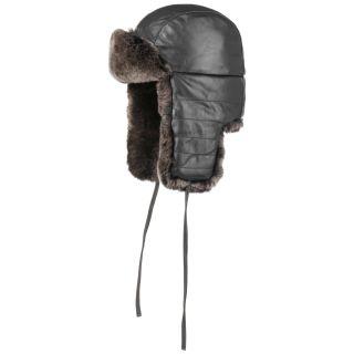 Einkaufen neuer & gebrauchter designer Temperament Schuhe Pukahani Leather Aviator Hat black