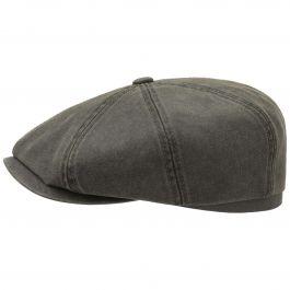 Stetson Hatteras Waxed Cotton Schiebermütze Baker Boy Flatcap Kappe Mütze Cap