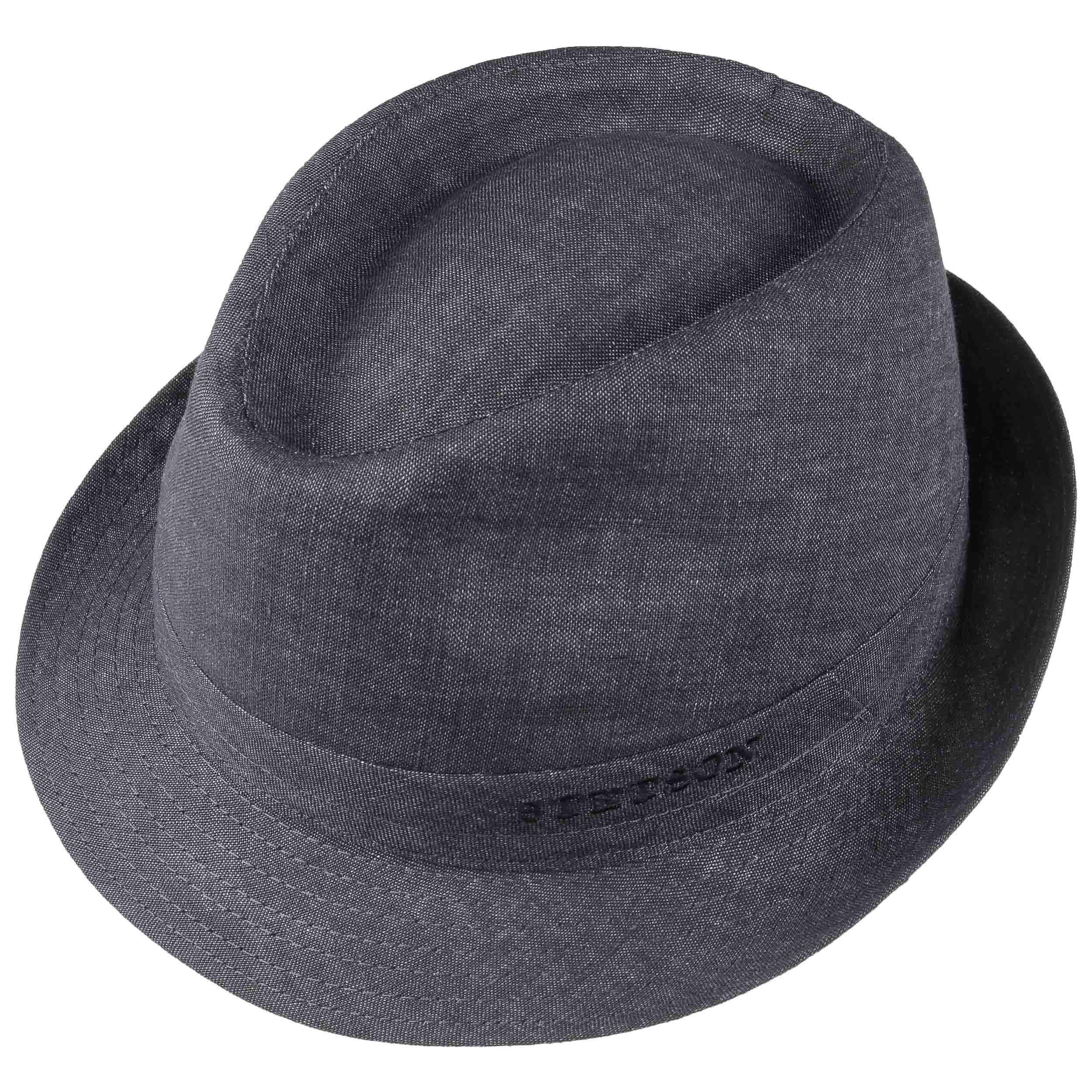 good looking cheap sale official site Geneva Linen Trilby denim