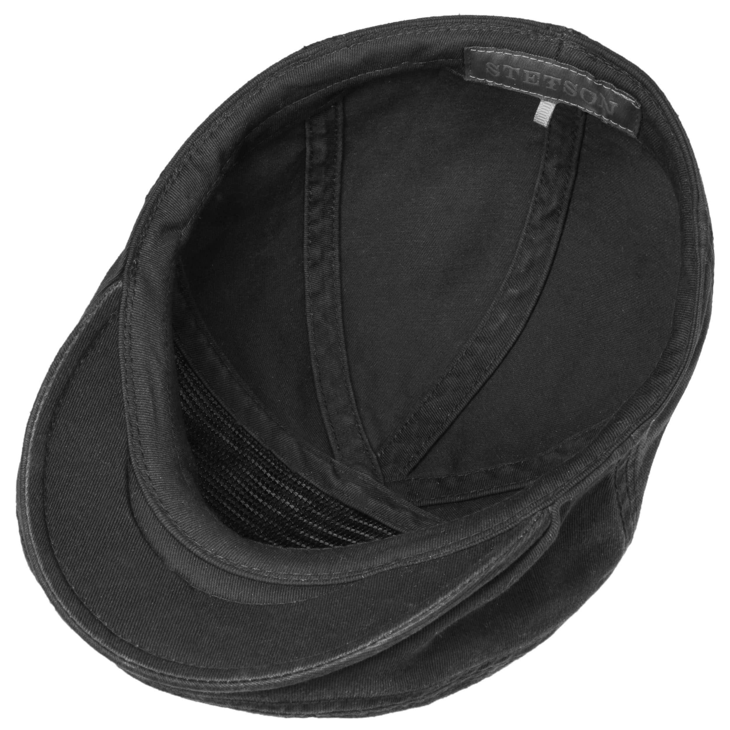 Paradise Cotton Flat Cap black