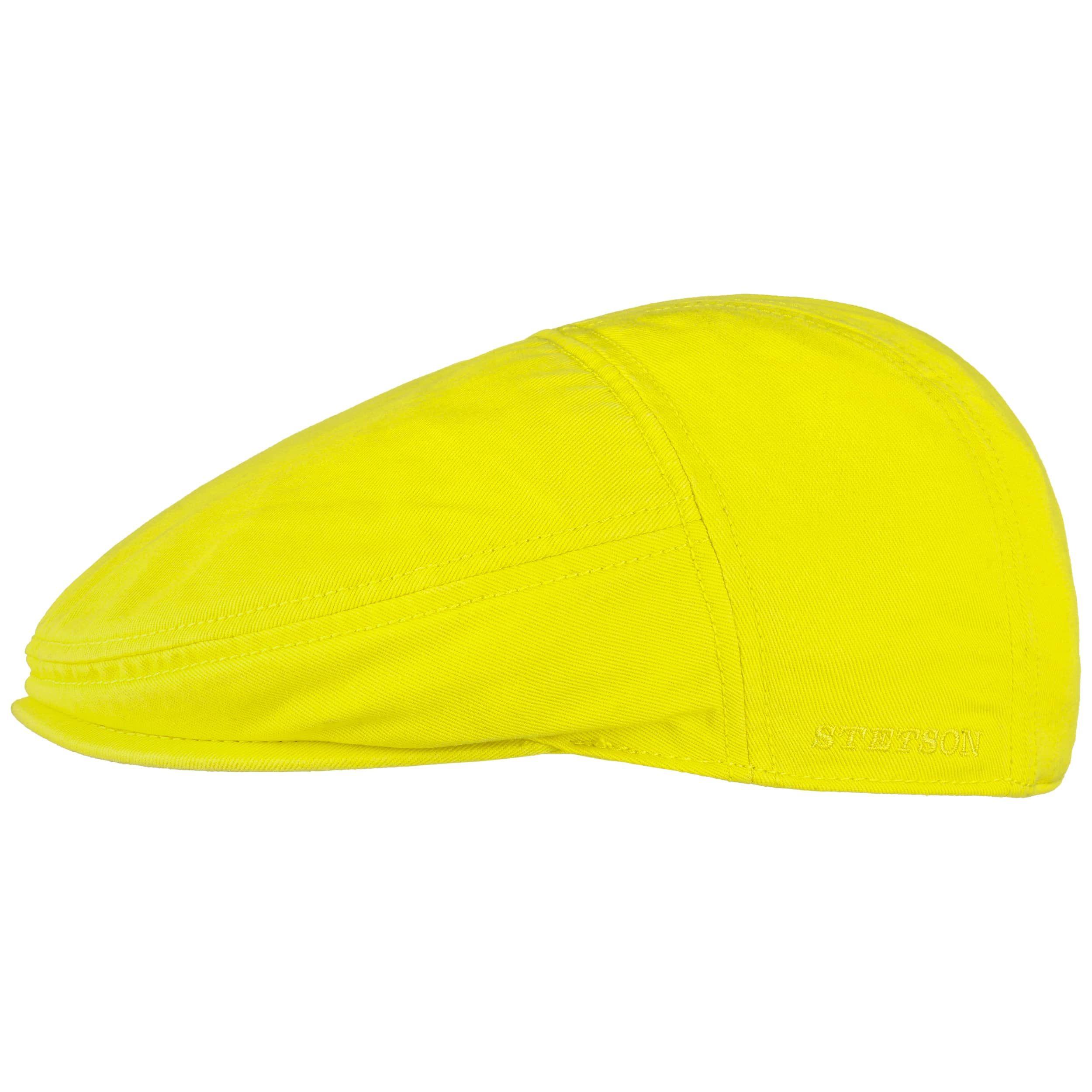 Paradise Cotton Flat Cap neon yellow