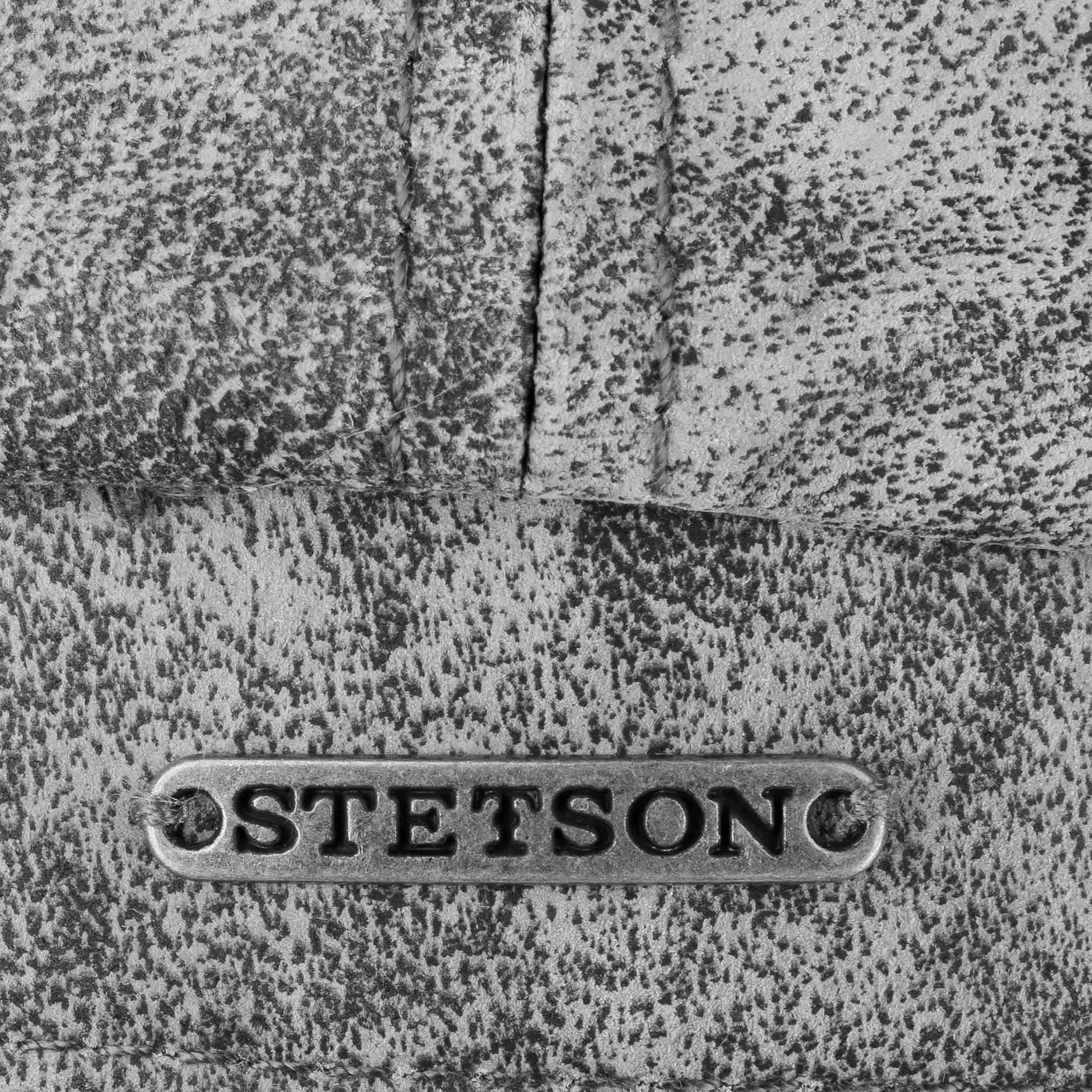 Hatteras Pigskin Ledermütze grau