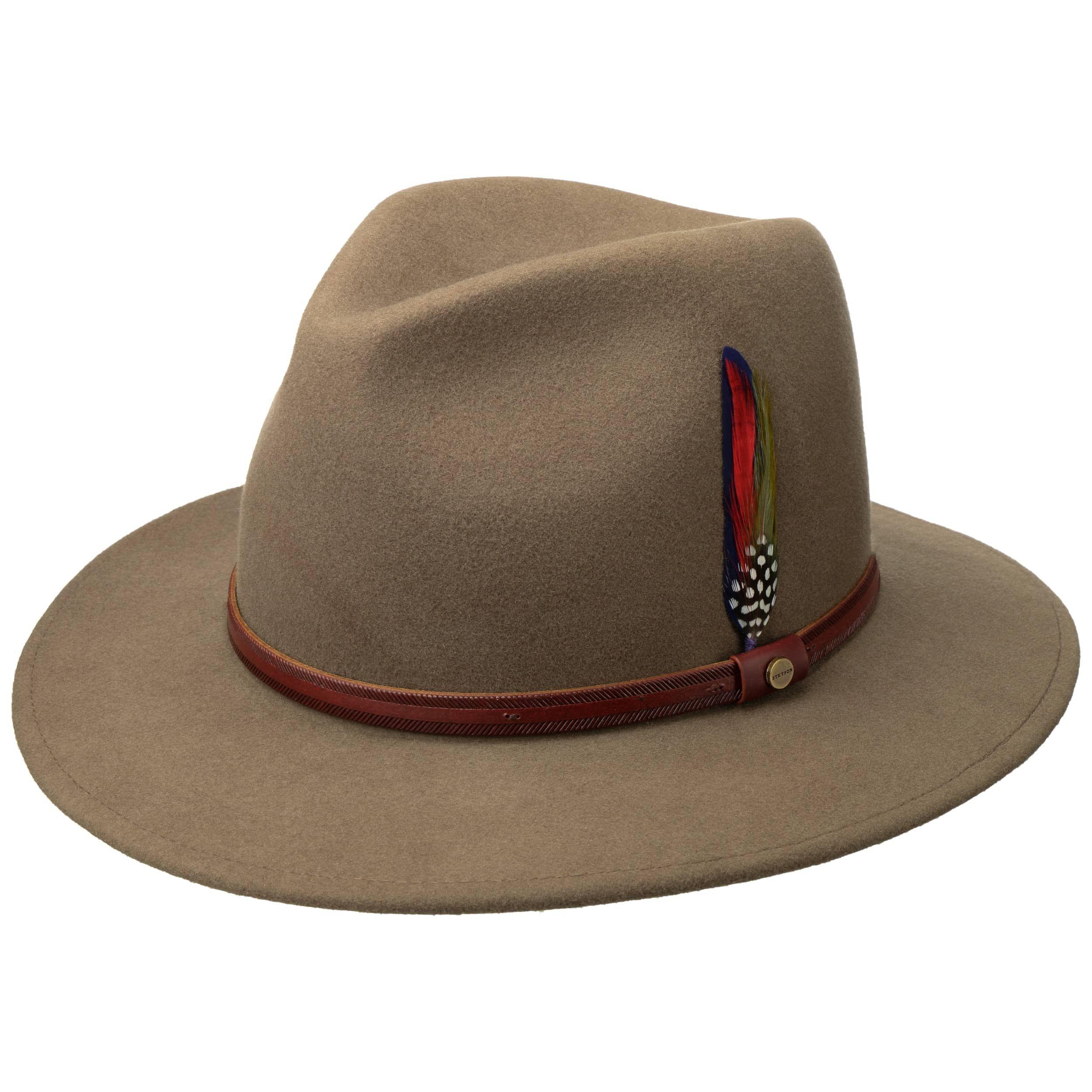 Stetson Rantoul Wool Felt Fedora Hat Small to XXL