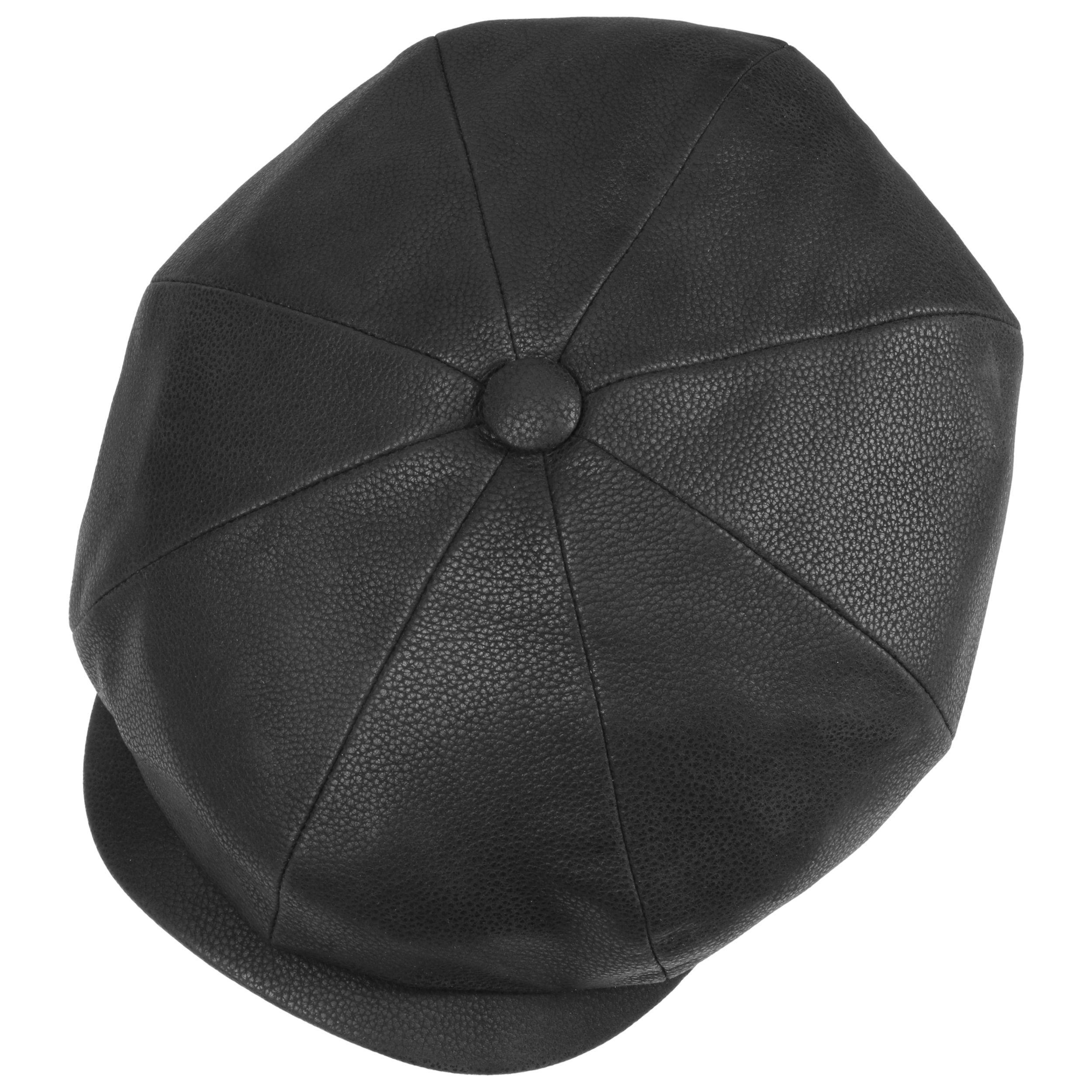 Hatteras Chevrette Ledermütze schwarz