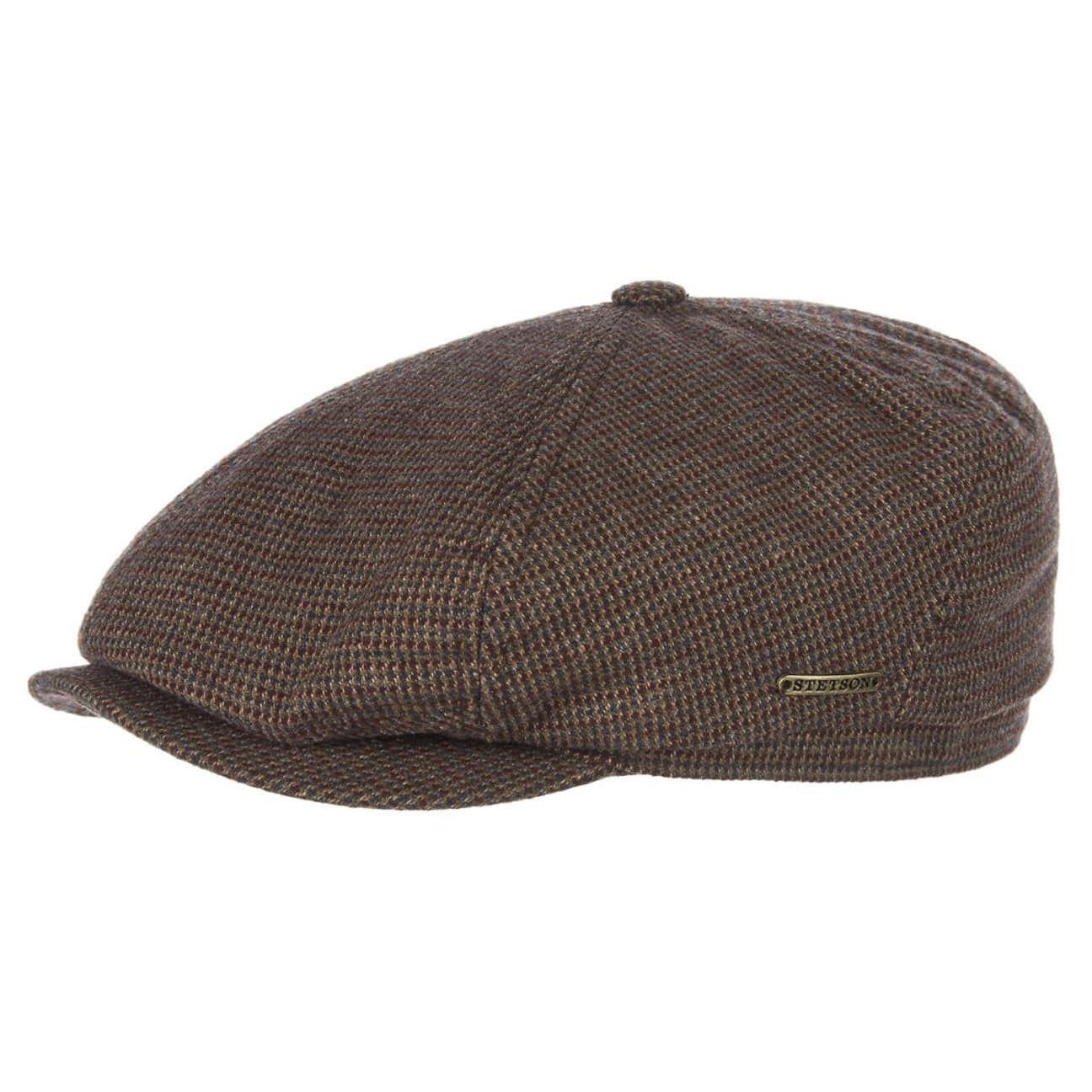 Brooklin Cotton Flat Cap brown