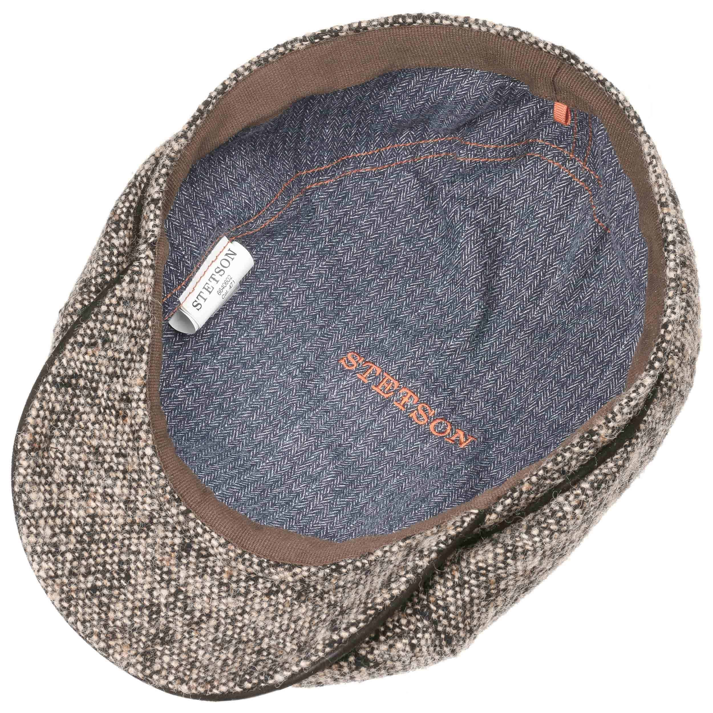 Brooklin Virgin Wool Flat Cap dark beige