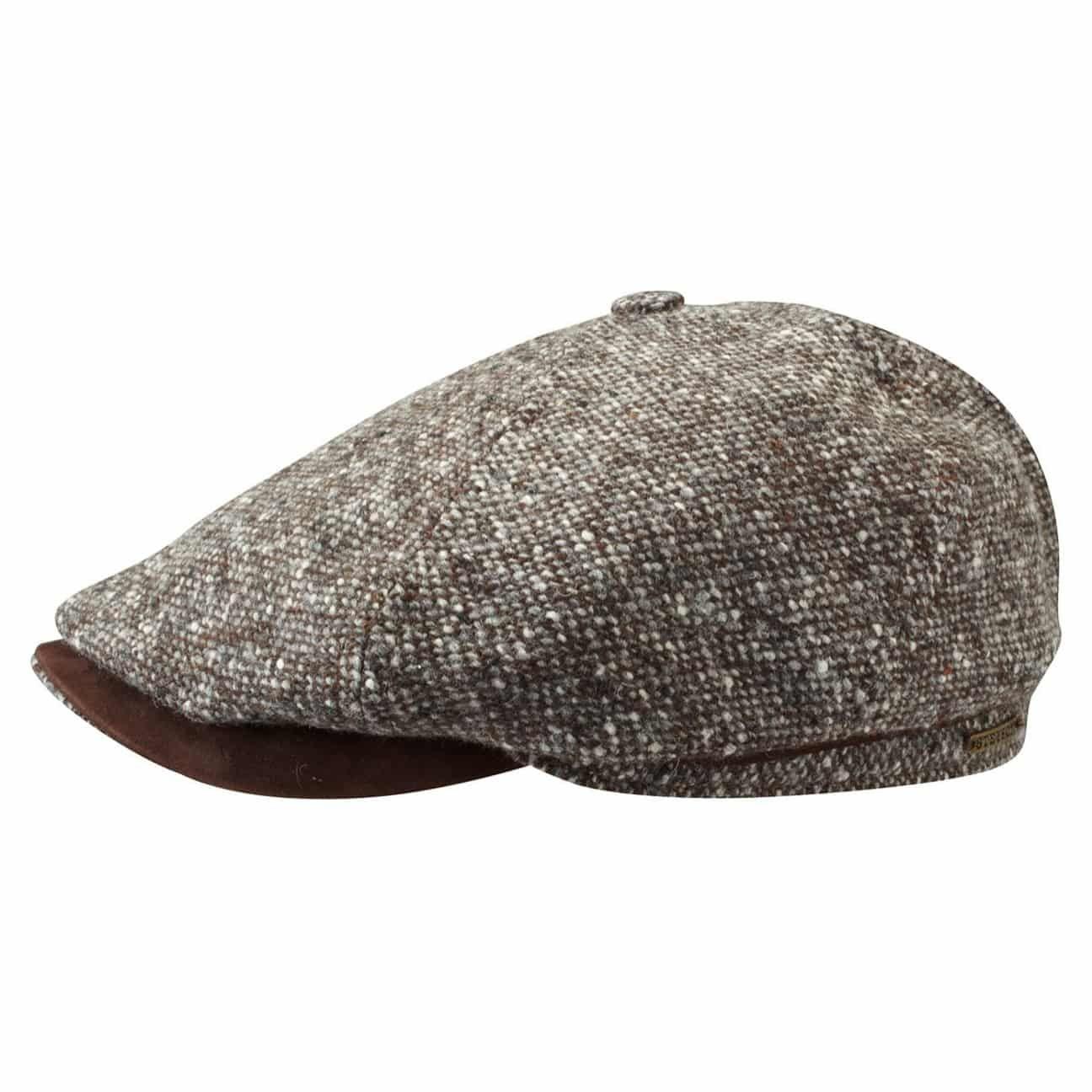 Brooklin Virgin Wool Flat Cap brown