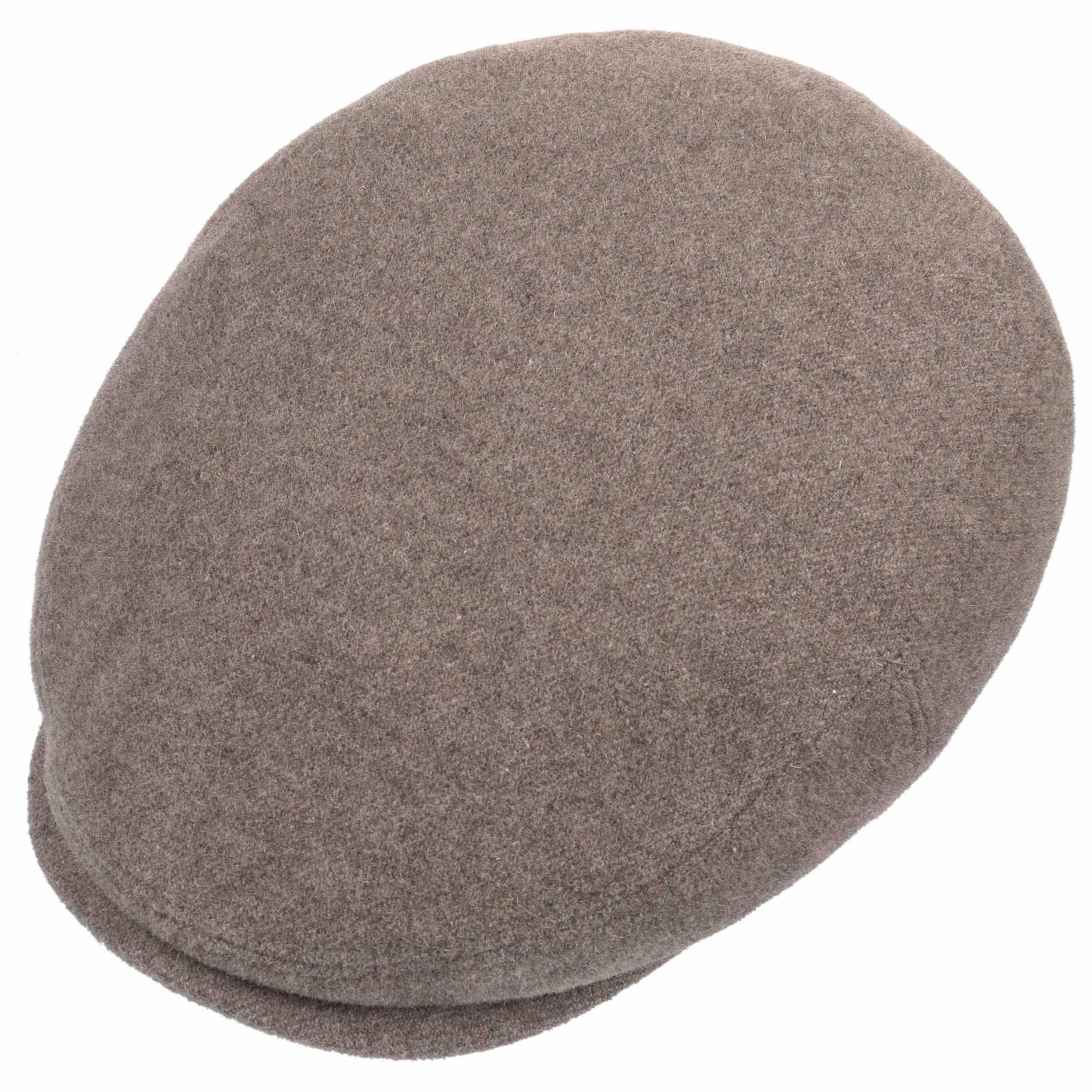 Kent Wool Ohrenklappen Flatcap taupe