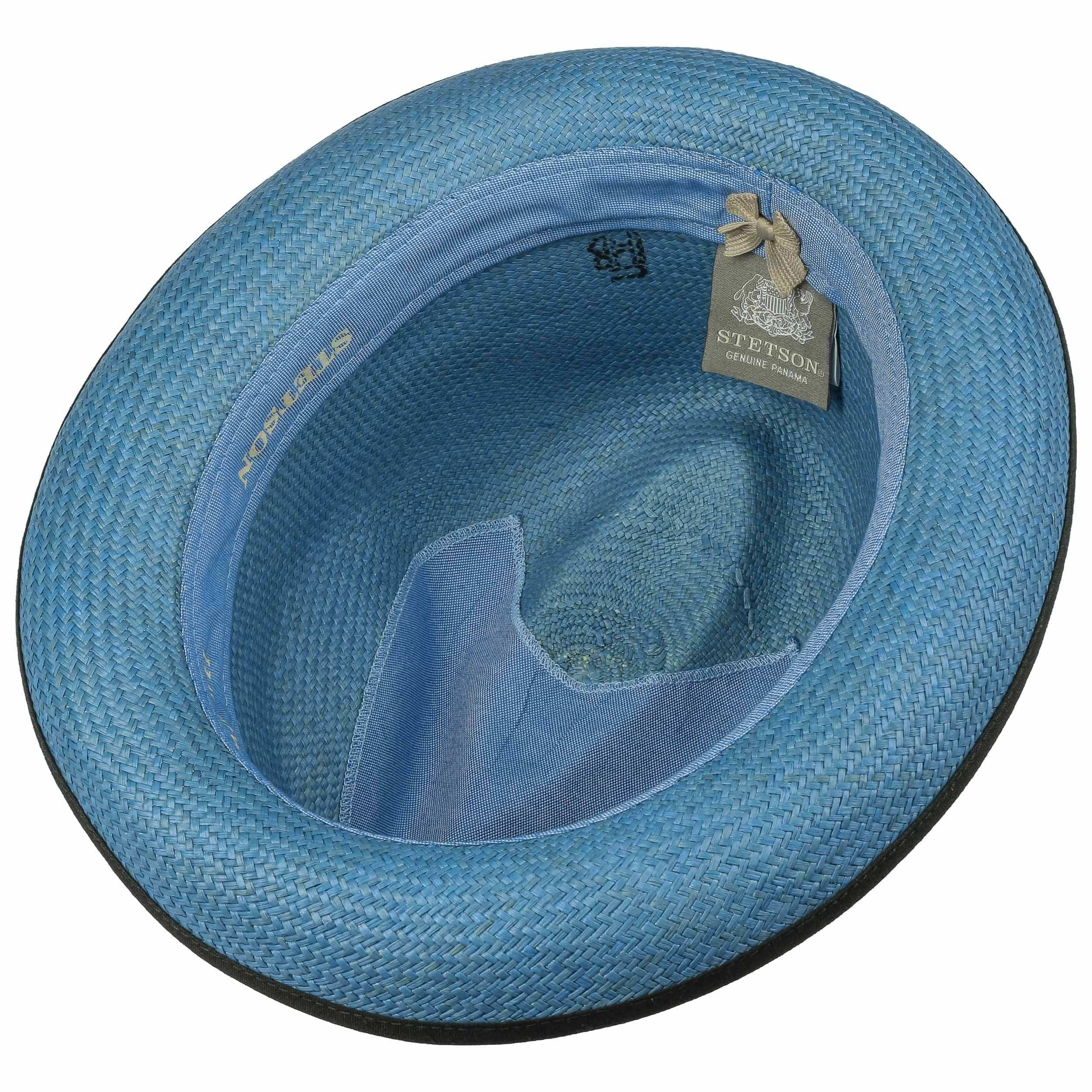 Neples Trilby Panamahoed blauw
