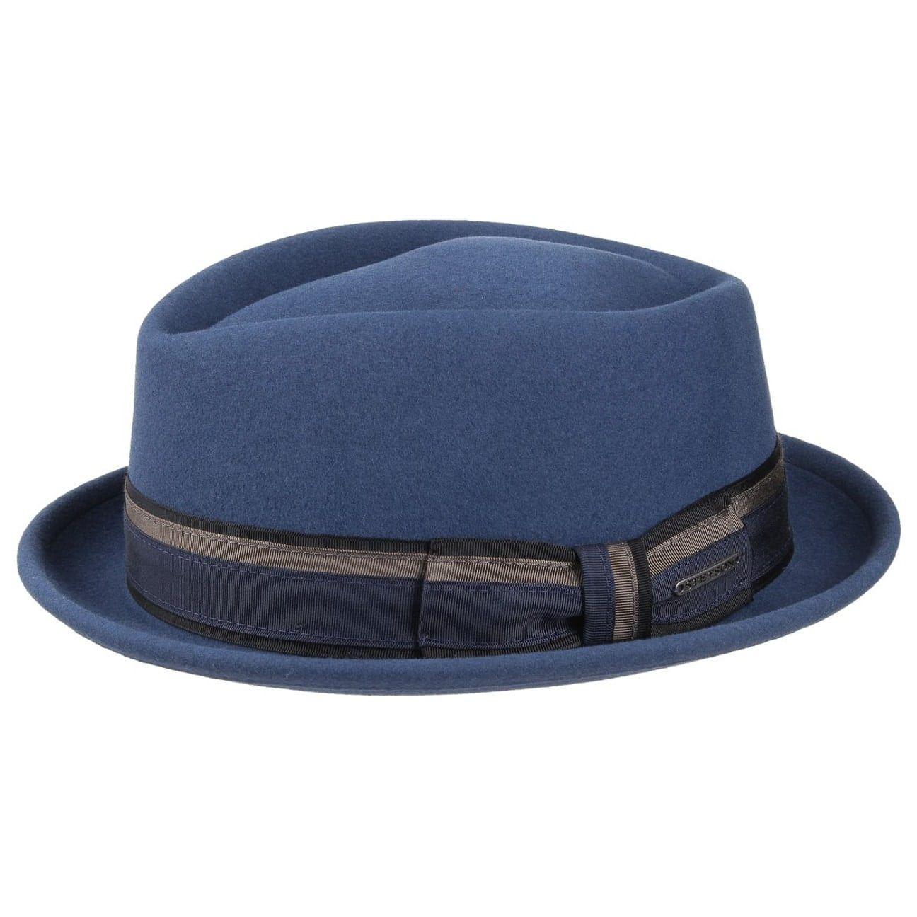 Olmsted VitaFelt Pork Pie Hat blue