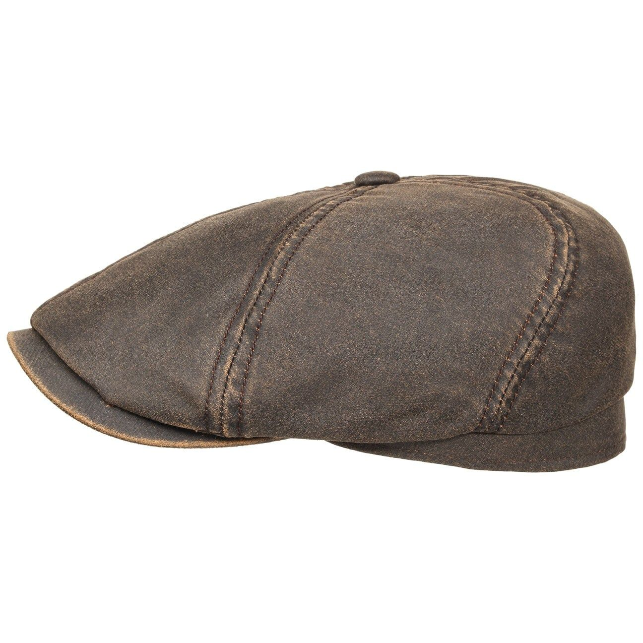 Brooklin Old Cotton Flat Cap brown