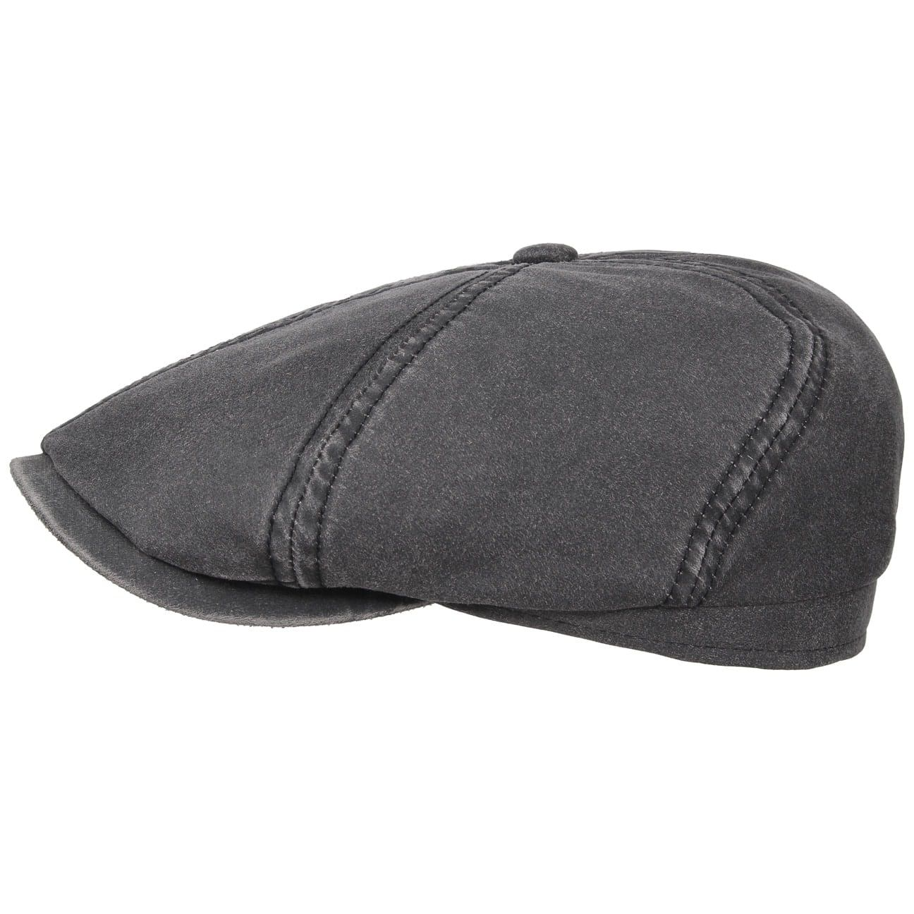 Brooklin Old Cotton Flat Cap black