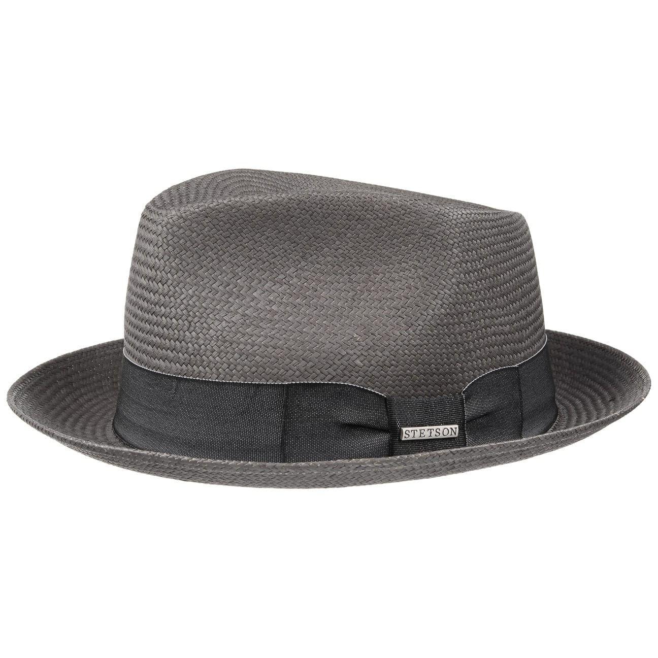 vente chaude pas cher qualité authentique frais frais Chapeau en Paille Solvay Panama gris