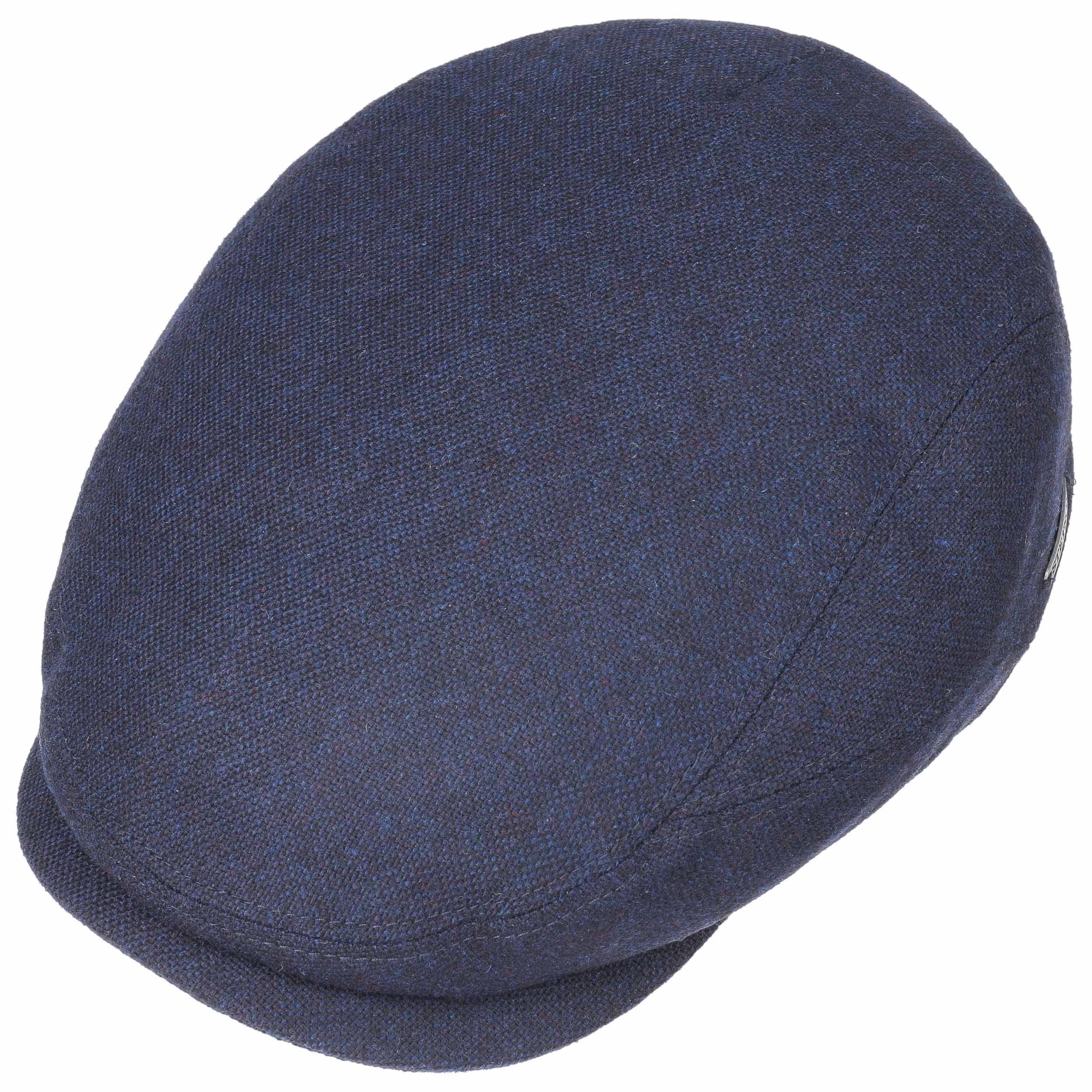 Belfast Wool Blend Flat Cap blauw