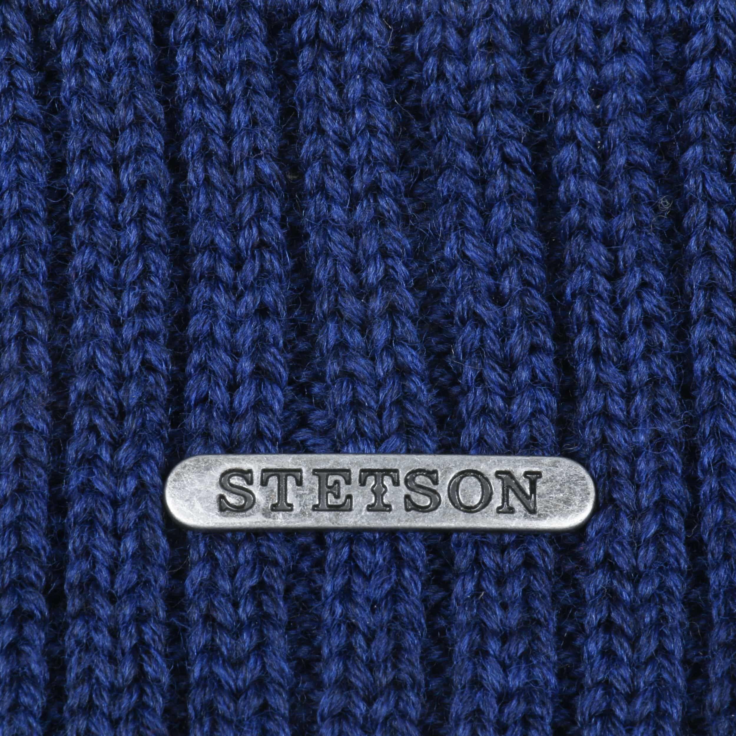 Georgia Wool Knit Hat with Cuff sapphire blue