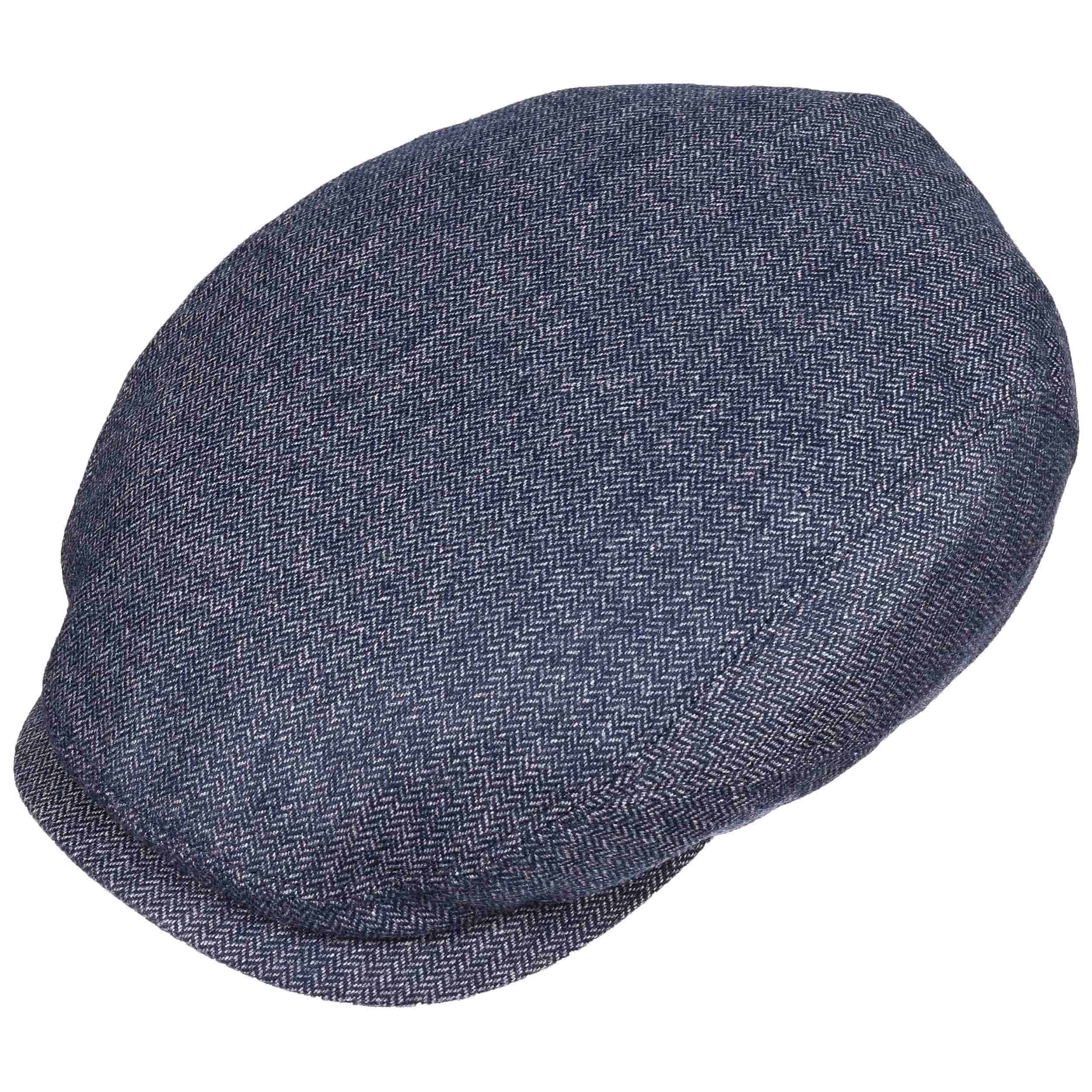 Belfast Cashmere Flat Cap blue