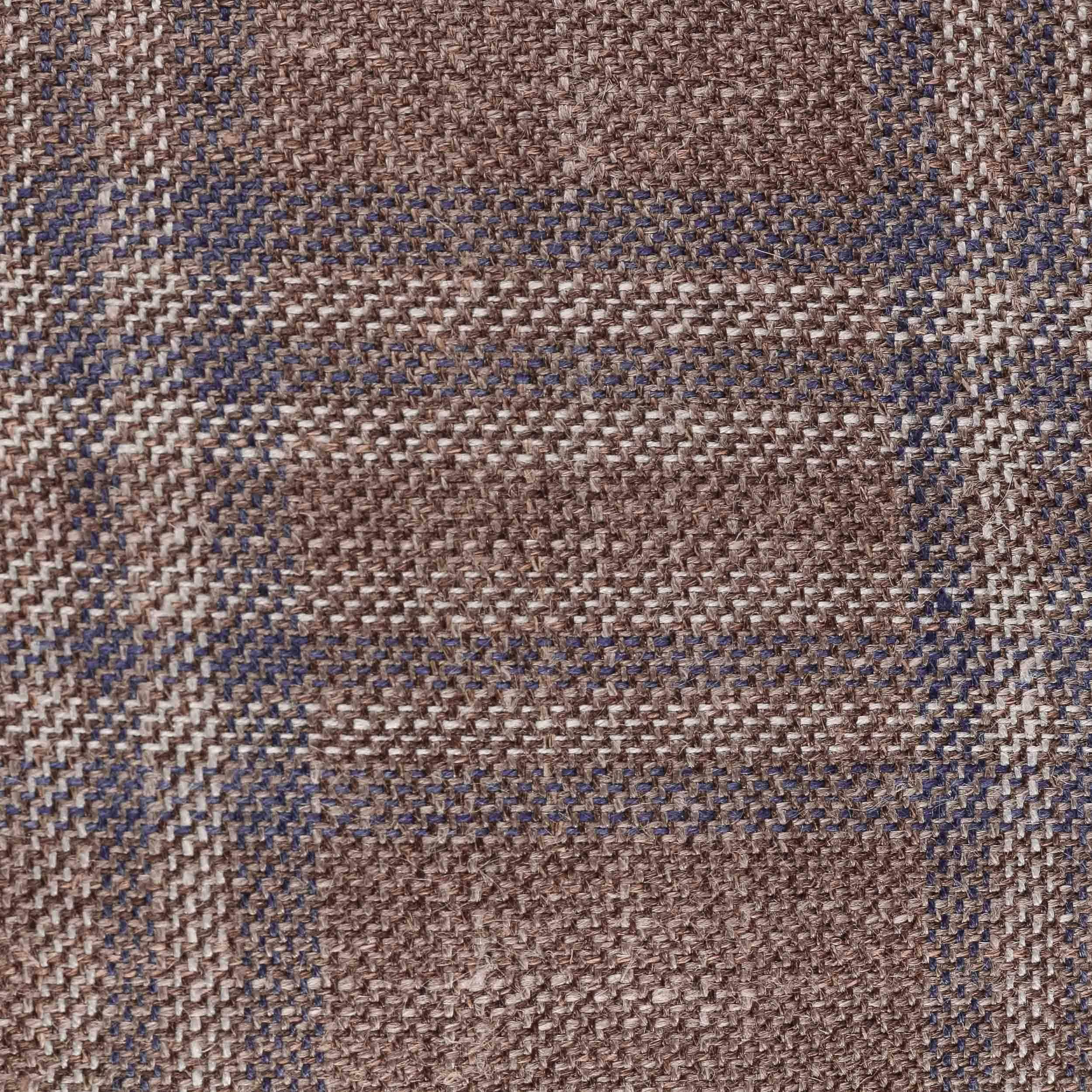 Virgin Wool Silk Flat Cap brown