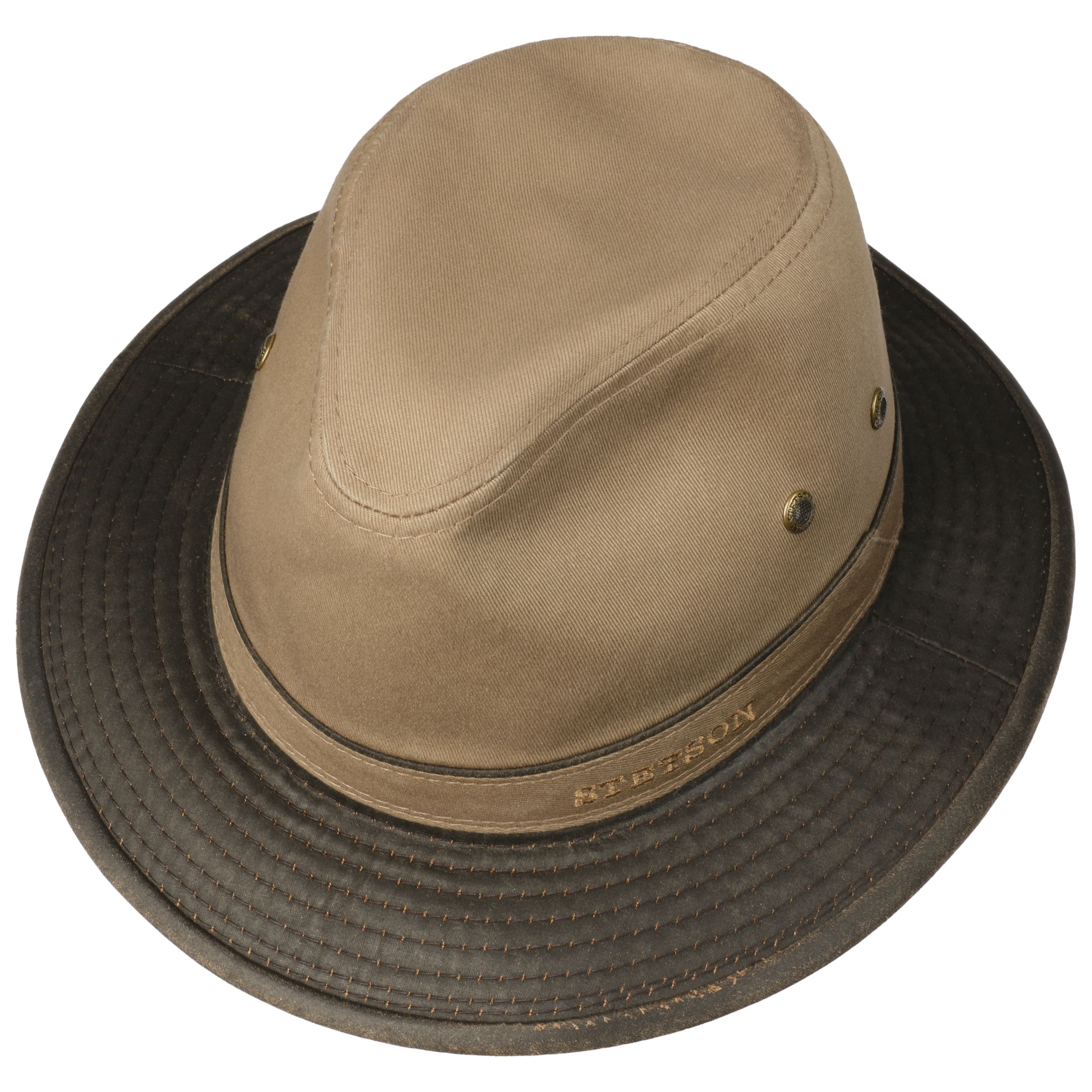 UV Protection Cotton Hat dark beige