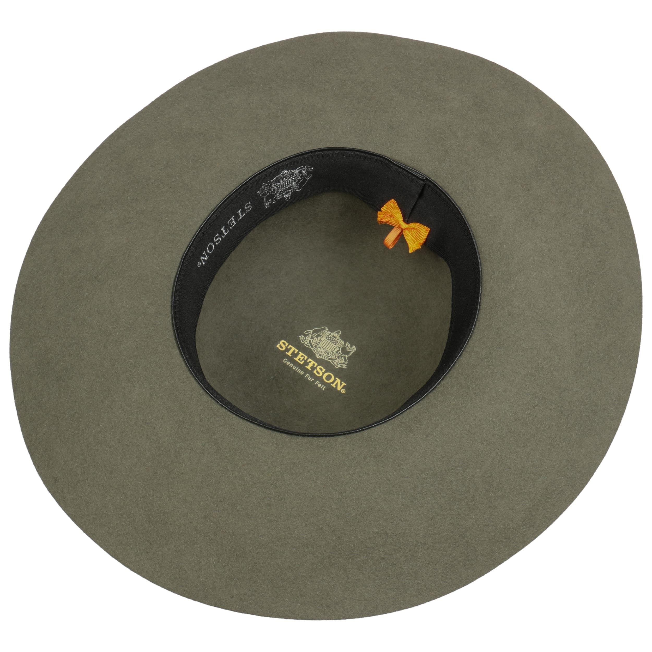 Elegantina Fur Felt Floppy Hat olive