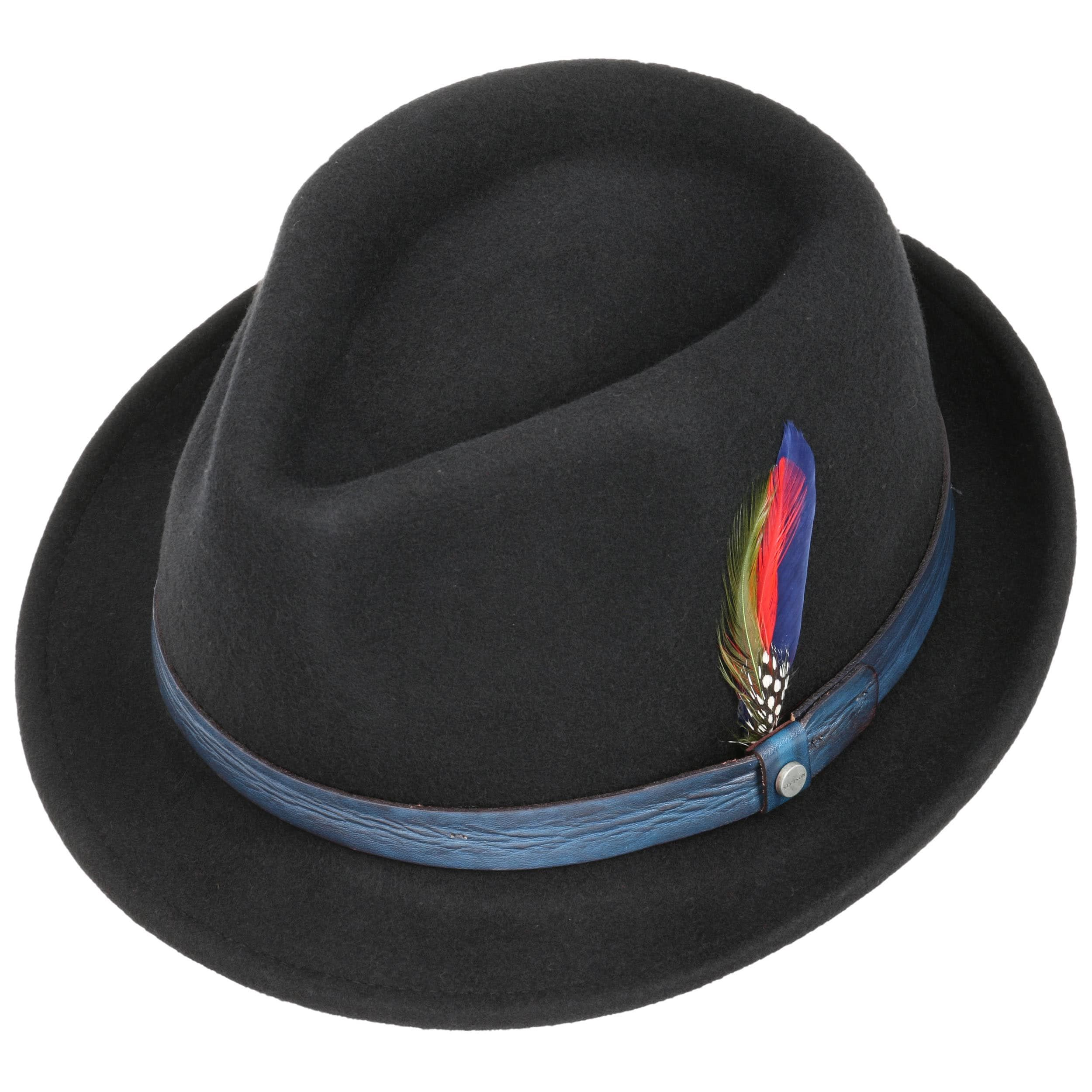 Craston Trilby Wool Felt Hat black