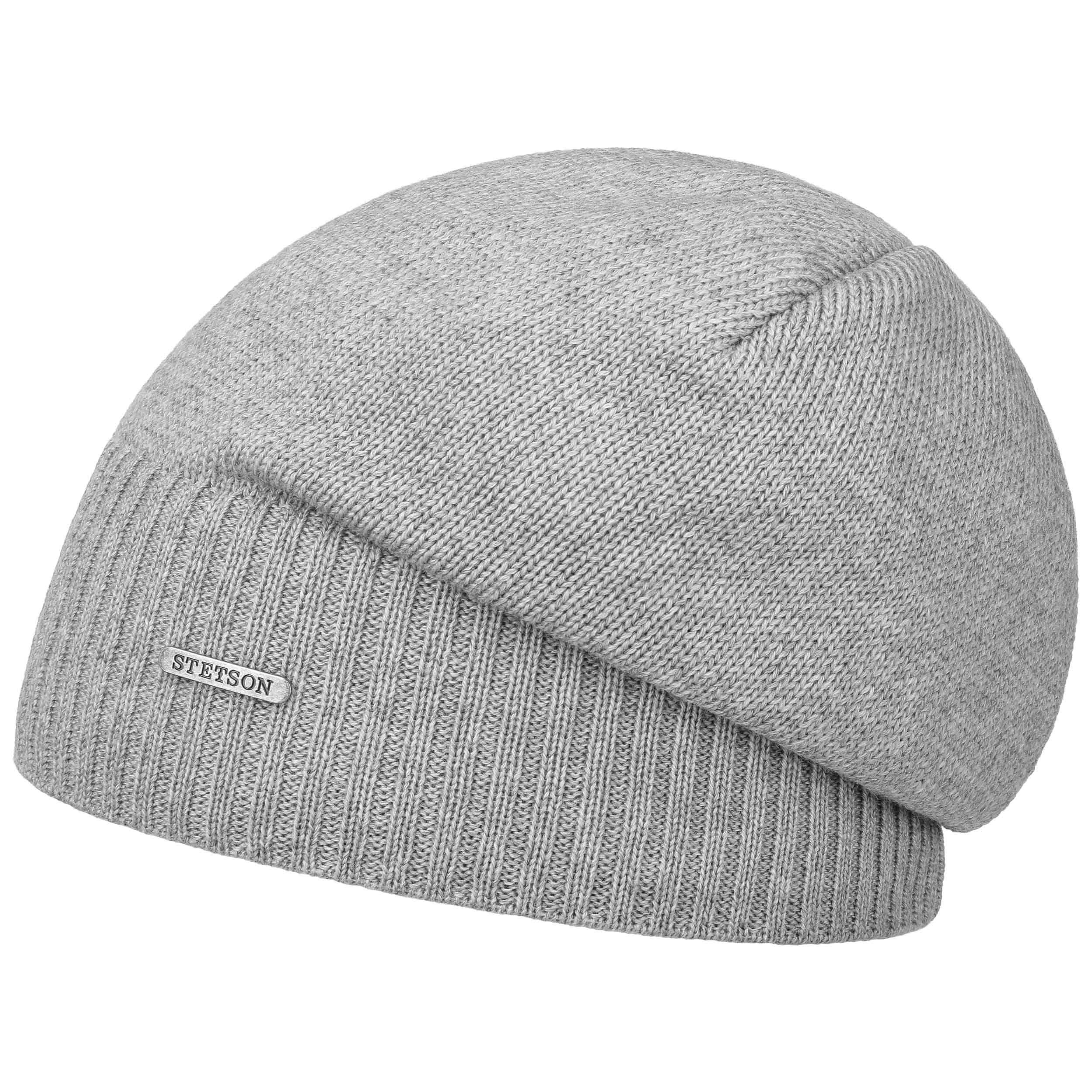 Wool Merino Oversize Beanie grey