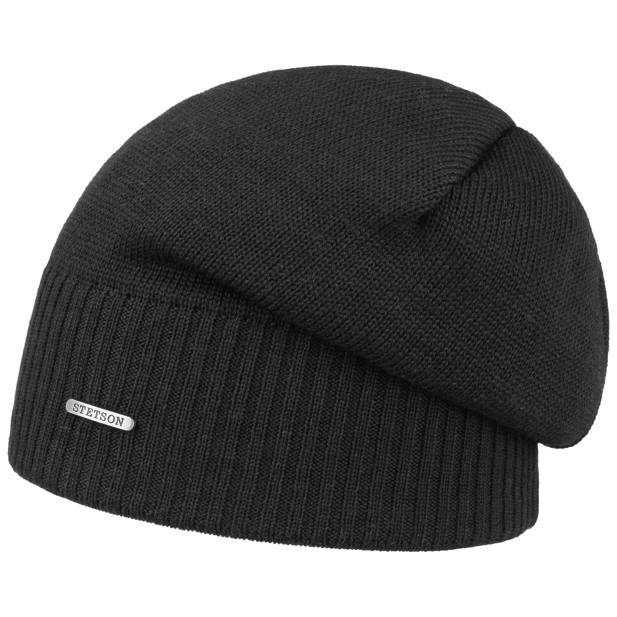 Wool Oversize Beanie schwarz