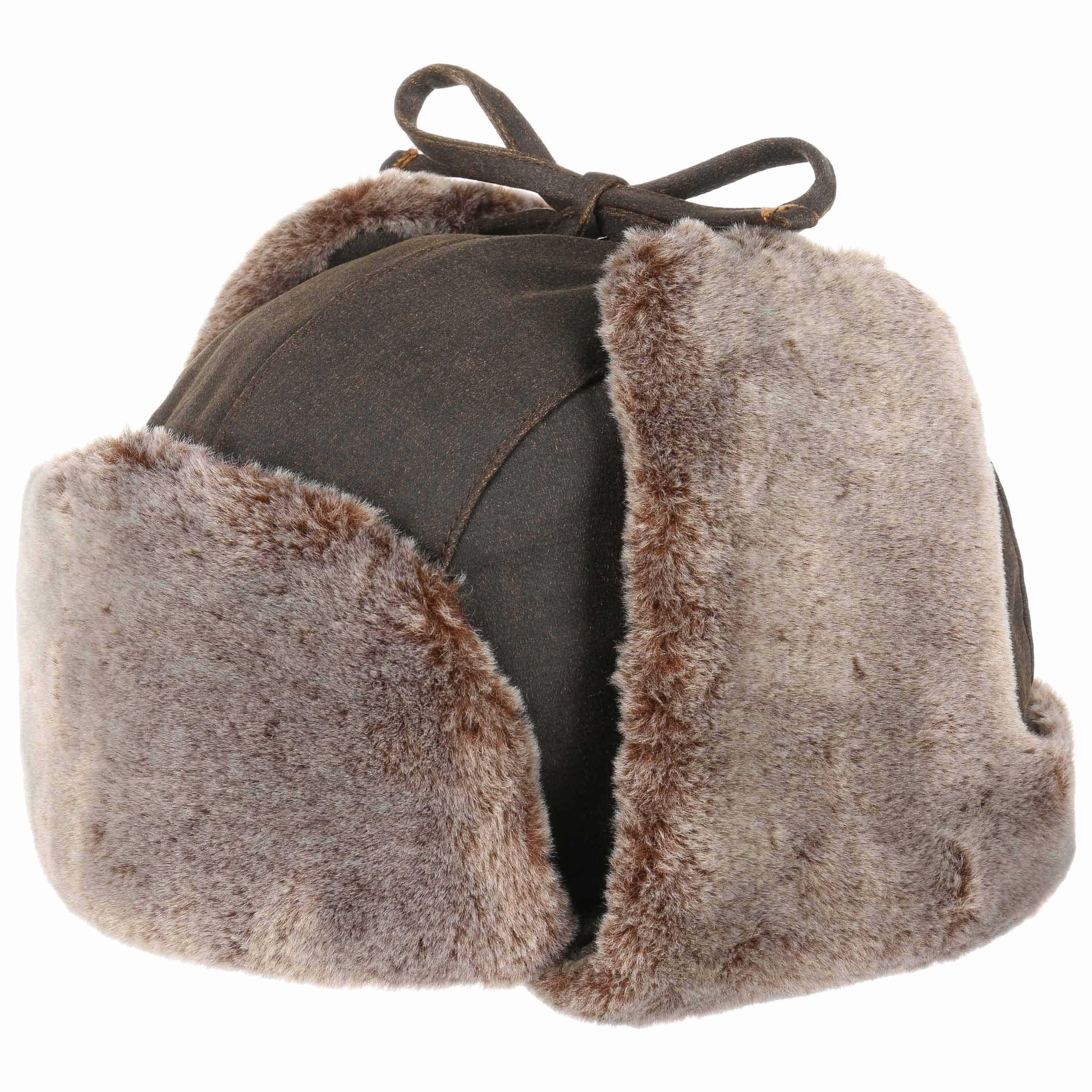 Bonnet d´Aviateur Old Cotton marron
