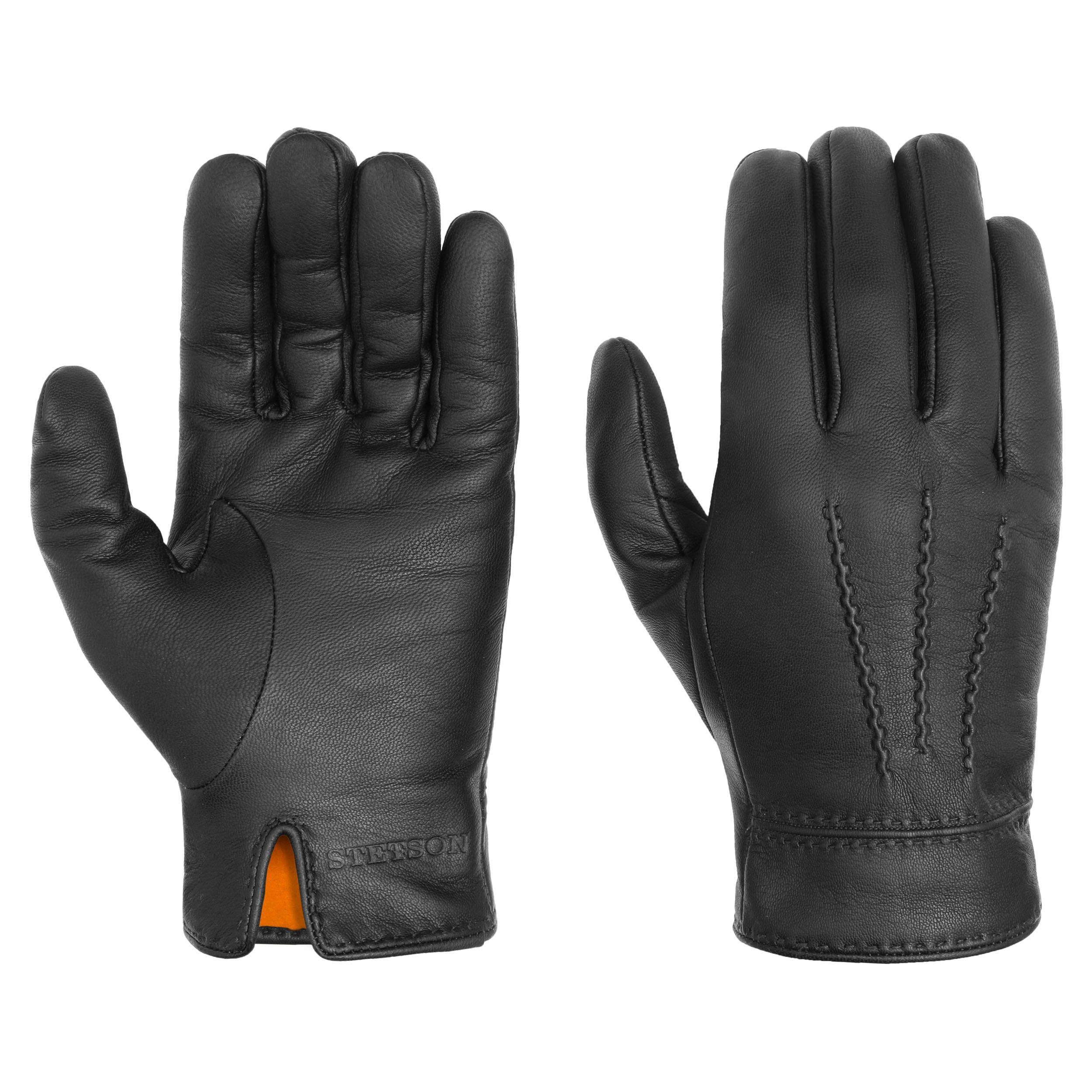 Soft Nappa Lederhandschuhe schwarz