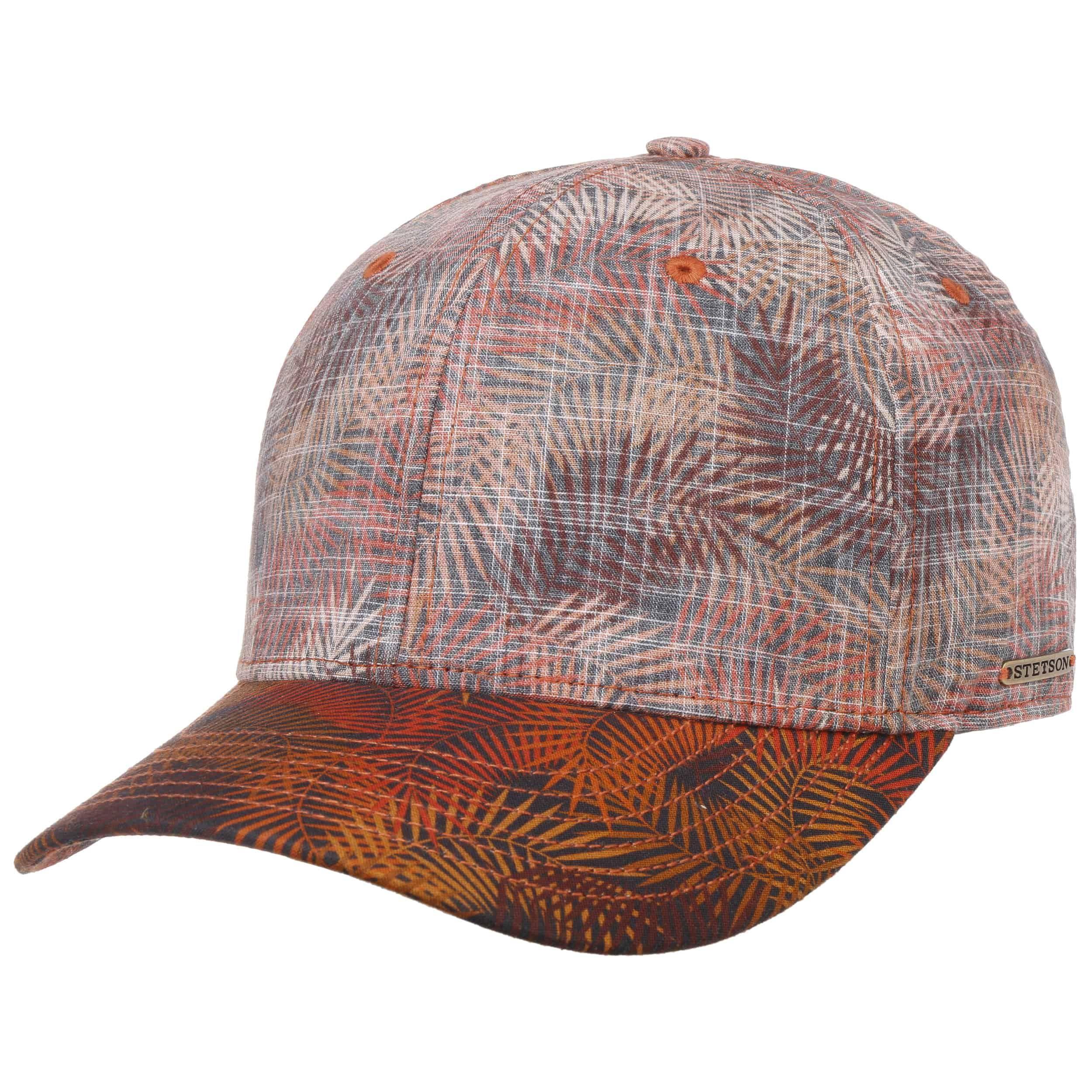 Palm Leaf Baseballcap orange-meliert