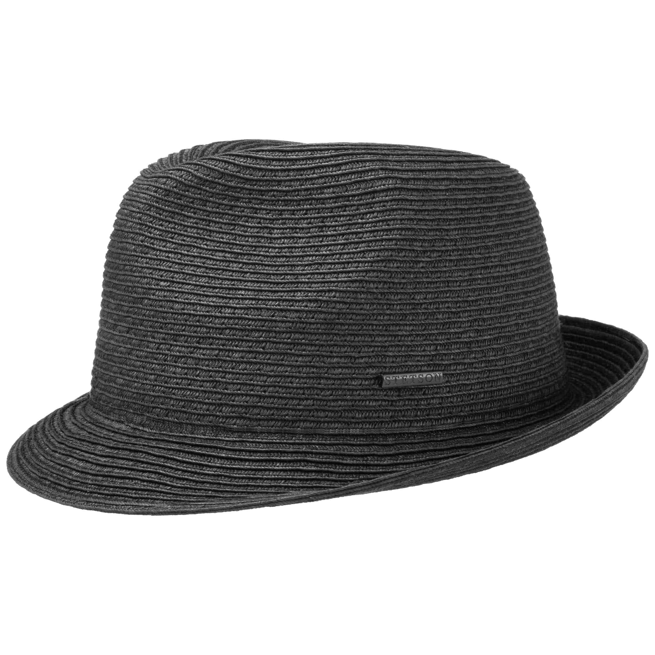 Dawson Black Player Hat Straw Hat black