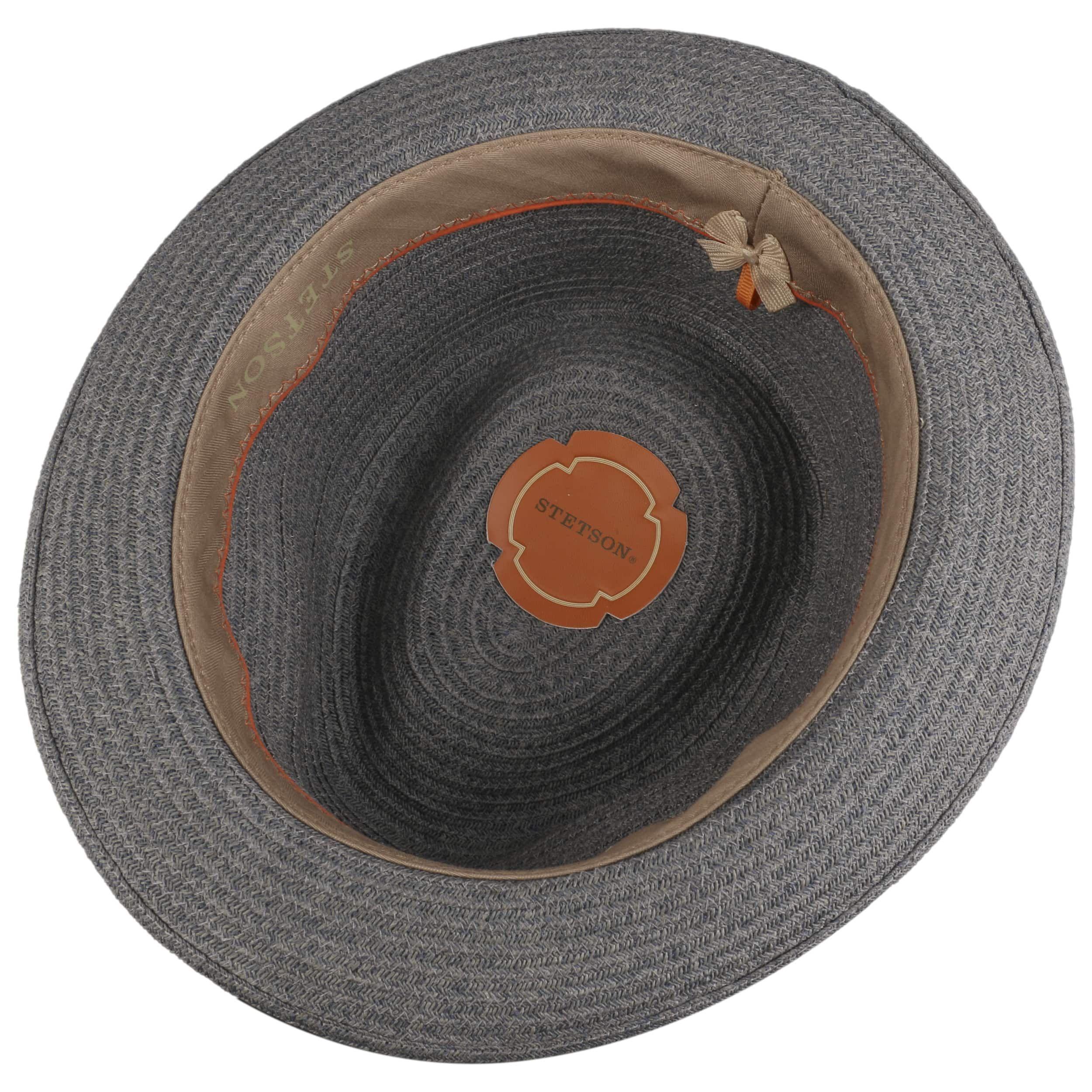 Carson Fedora Toyo Straw Hat grey-blue